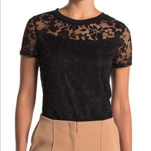 NWT Laundry Burnout black teeshirt S